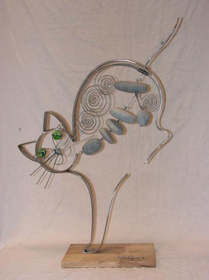 "Sculptures ""Les Chats"""